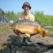 Карп весом 11.2 кг, пойманный на долгорастворимый бойл КОНСТРУКТОР