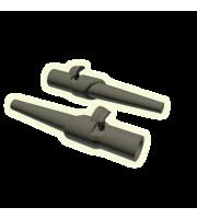Пластиковая клипса для скользящей оснастки с Т-образным фиксатором