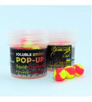 Soluble amino POP-UP two-flavor SQUID•CRANBERRY (КАЛЬМАР•КЛЮКВА) Ø10 мм