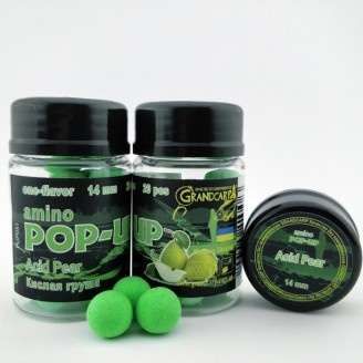 Amino POP-UP one-flavor ACID PEAR (КИСЛА ГРУША) Ø14 мм