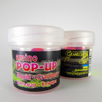 Amino POP-UP two-flavor SQUID•CRANBERRY (КАЛЬМАР•КЛЮКВА) Ø10 мм