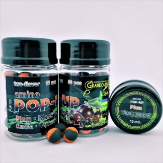 Amino POP-UP two-flavor PLUM•BLACK PEPPER (СЛИВА•ЧЕРНЫЙ ПЕРЕЦ) Ø10 мм