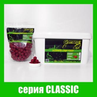 Бойлы прикормочные растворимые КЛУБНИКА серия CLASSIC Ø20 мм